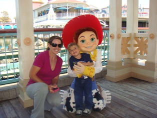 Elizabeth and Jacob Hammack with Jesse at California Adventure
