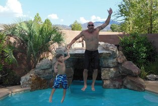 Enjoying many months of heat by the pool living in Henderson Nevada like living in Las Vegas
