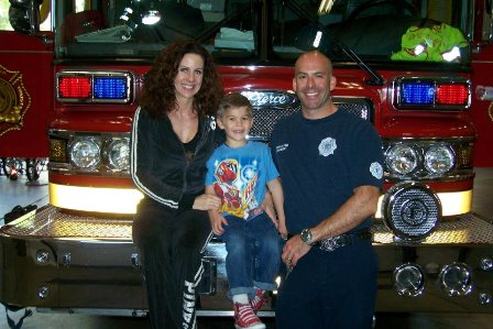 Elizabeth Jacob and Todd Hammack at Las Vegas Fire Station 42 Living in Las Vegas Nevada